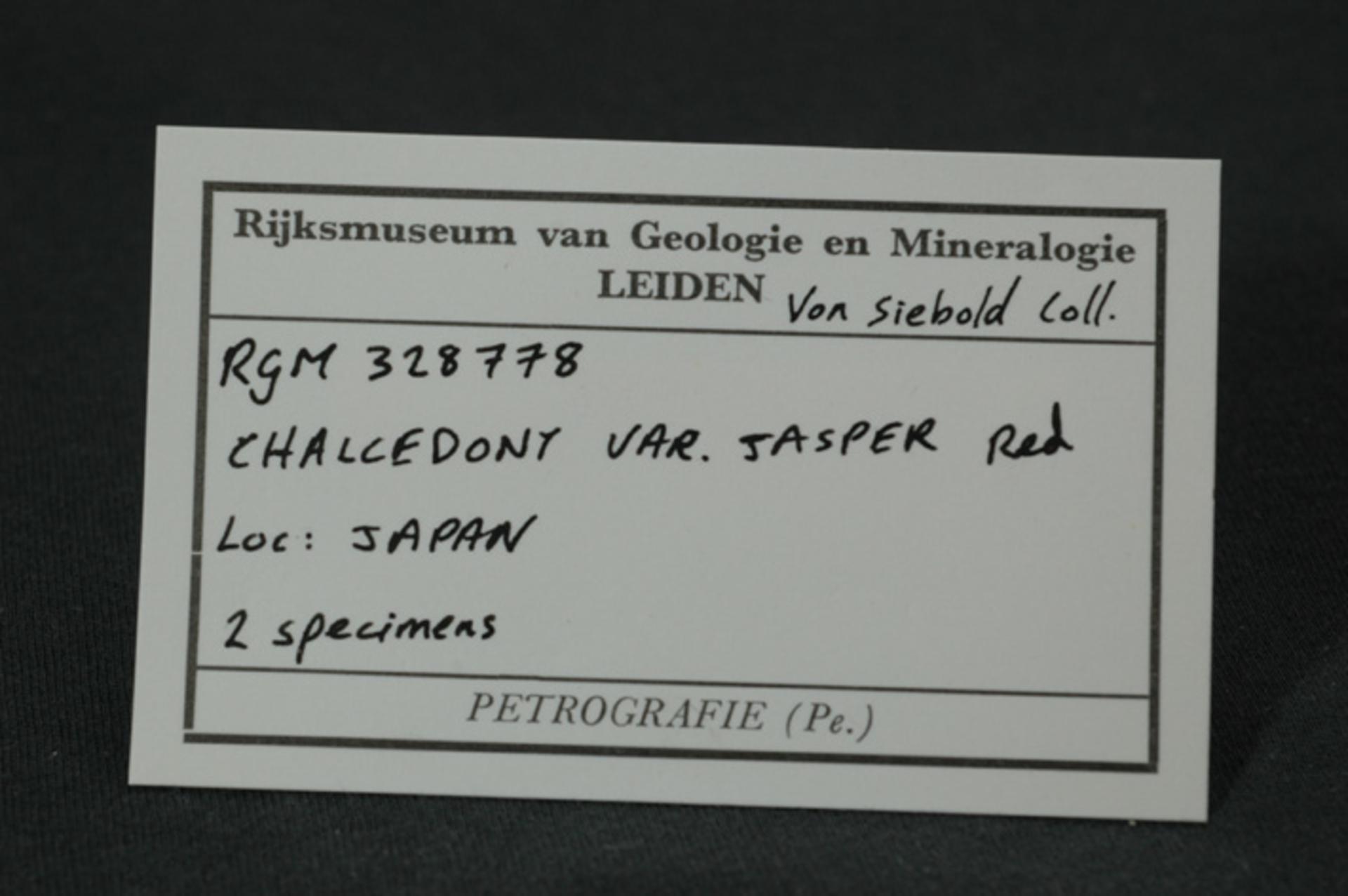 RGM.328778   CHALCEDONY VAR. JASPER. RED